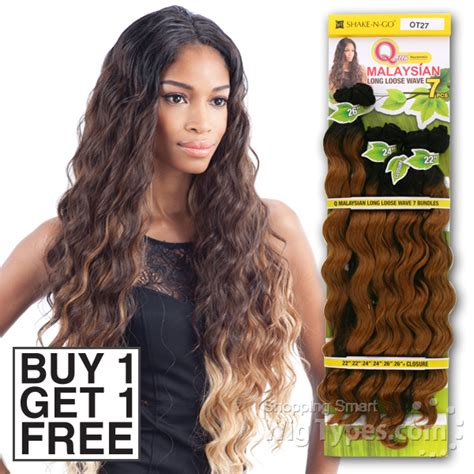 Black Hairstyles With Weave By Way by Way Que Human Hair Blend Weave Malaysian