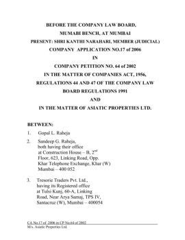 company law board mumbai bench before the company law board fliphtml5