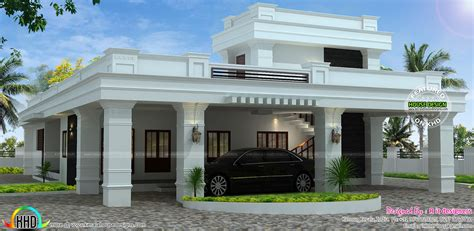 flat roof home with floor plan kerala home design and single floor decorative flat roof house kerala home