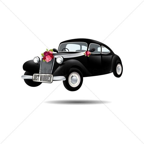 wedding car vector wedding car vector image 1554588 stockunlimited