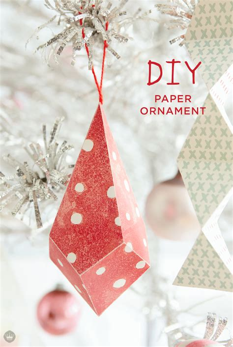 paper ornaments simple and cheap tree