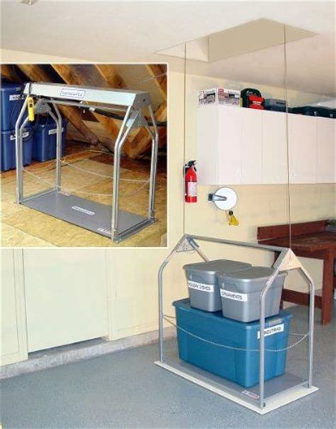 Garage Storage Elevator 71 Best Images About Attic On Attic Ladder
