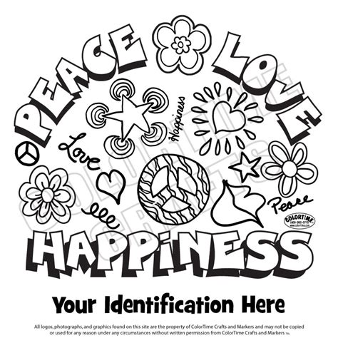 peace love happiness signs coloring pages www pixshark