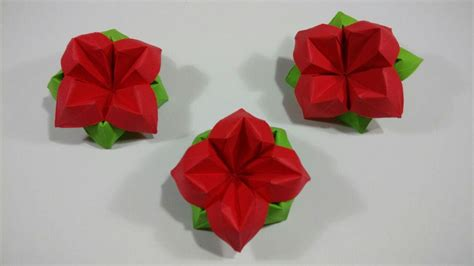 Make Paper Flower Origami - origami best easy origami flower ideas on origami flowers