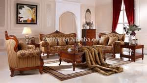 Royal Furniture Living Room Sets Living Room Sofa Antique Royal American Style Home Furniture Solid Wood Leather Sofa