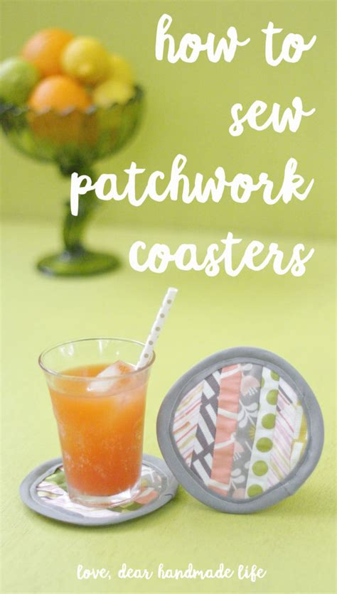How To Sew Patchwork by How To Sew Patchwork Coasters From Dear Handmade