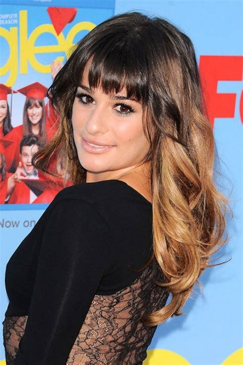 which hair colour does lea michele wear for loreal 50 best long hairstyles with bangs herinterest com