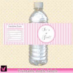 baby shower water bottle instant baby shower water bottle labels by pinkthecat