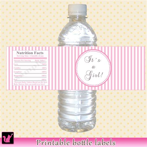 baby shower labels for water bottles instant baby shower water bottle labels by pinkthecat