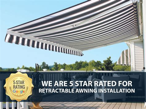 installing retractable awning retractable awning installers the awning warehouse ny