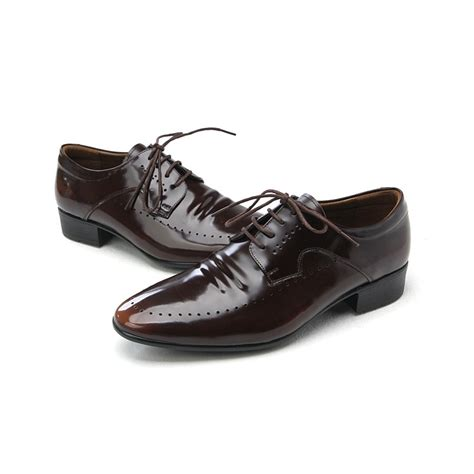 brown mens dress shoes mens punching brown cow leather dress shoes