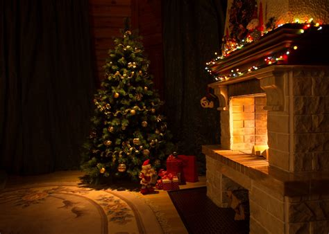 Fireplace With Tree by Punch Places For Decor