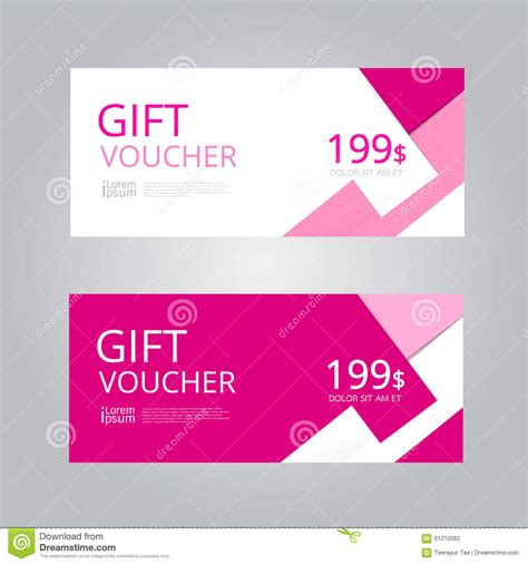 Graphic Design Gift Card Template by Vector Design For Gift Voucher Coupon Stock Vector