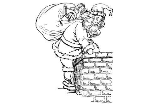 imagenes navideñas religiosas en color dibujo de santa claus entrando por la chimenea para