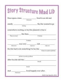 is just speechie story structure mad lib