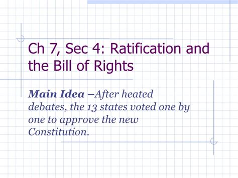bill of rights section 4 7 4 ratification and the bill of rights