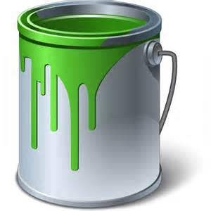 green paint iconexperience 187 v collection 187 paint bucket green icon