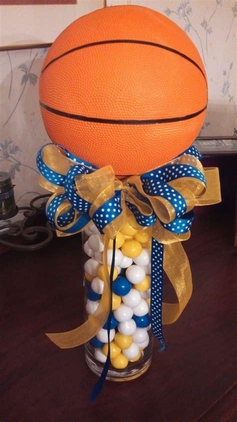 center pieces using gum balls for basketball banquet