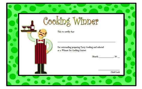 cooking certificate template cooking contest certificate template 4 best 10 templates