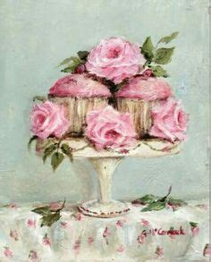 Limited Edition Stand Cupcake Polcadot Pink cake painting reserved for donna original ooak