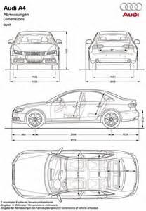 Audi A4 Size 2008 Audi A4 Blueprint Dimensions Blueprints