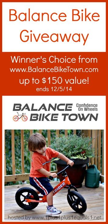 Bicycle Sweepstakes - balance bike giveaway 1 1 1 1