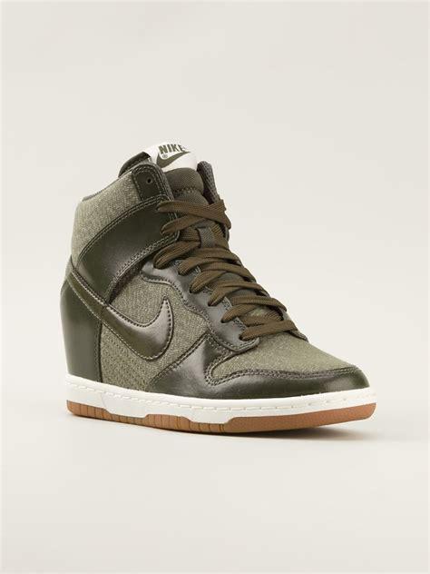 hi top sneakers nike dunk sky hi top sneakers in green lyst