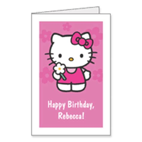 Hello Kitty Printable Greeting Cards | hello kitty free printables birthday card
