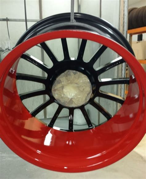 get a new look for your alloy wheels with a painted refurbishment alloys