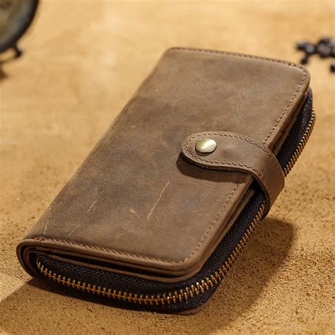 Handmade Leather Iphone - handmade vintage leather wallet iphone 6 6s iphone 7