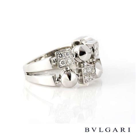 Bvlg White Set bvlgari 18k white gold set lucea ring rich diamonds of bond