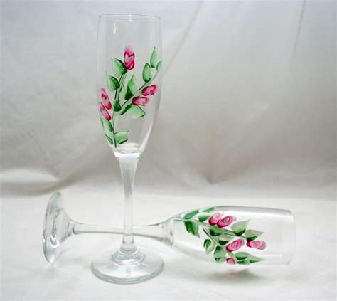 Handmade Glassware - painted glassware tumbler sets wine glasses