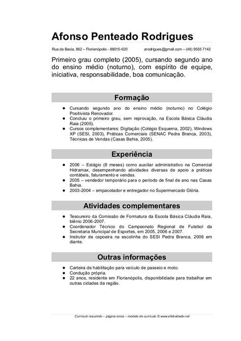 Modelo De Curriculum Vitae Word 2014 Modelos De Curr 237 Culos Prontos Para Preencher