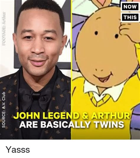 John Legend Meme - now this john legend arthur are basically twins gnio a
