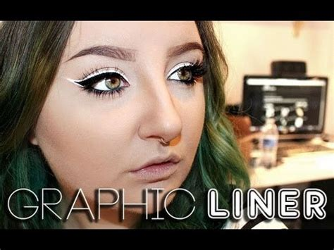 Nyx Eyeliner White graphic liner tutorial using nyc liquid liner nyx