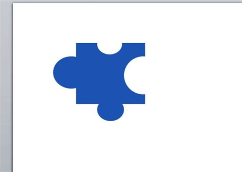 Creating A Jigsaw Puzzle Piece With Powerpoint Shapes Jigsaw Image For Powerpoint