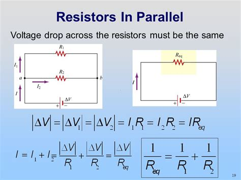 when resistors are connected in parallel how do their voltage drops compare week 04 day 2 w10d2 dc circuits today s reading assignment w10d2 dc circuits kirchhoff s loop