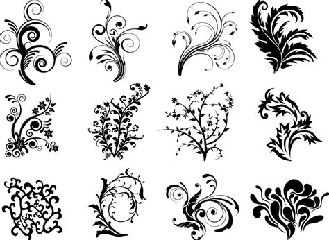 design vector online free vector floral curves free vector 4vector
