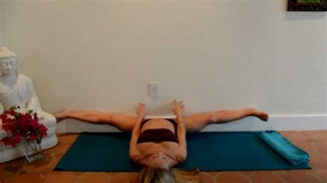 kino boat pose easy straddle front splits yoga stretch for beginners