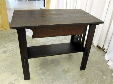 antique mission oak desk for sale antique oak mission arts crafts library table desk for