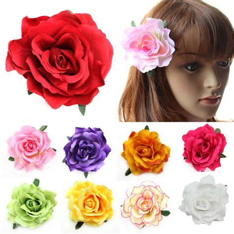 how to make wedding floral hair accessories hgtv gardens aliexpress com buy flocking cloth red rose flower hair