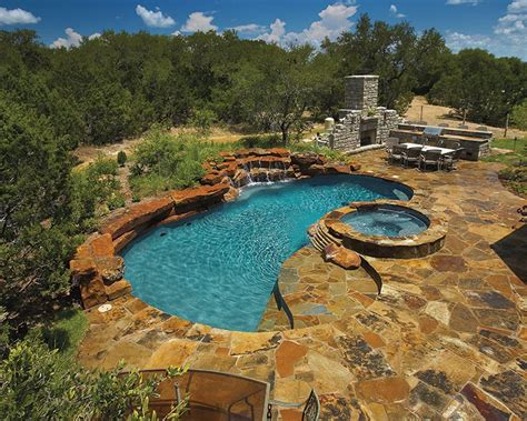 pools backyard find these exciting outdoor kitchen designs