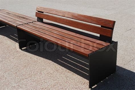 modern wooden bench modern wooden bench stock photo colourbox