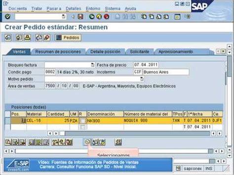 tutorial sap en pdf tutorial en sap sd los pedidos de venta parte 1 de 2 car