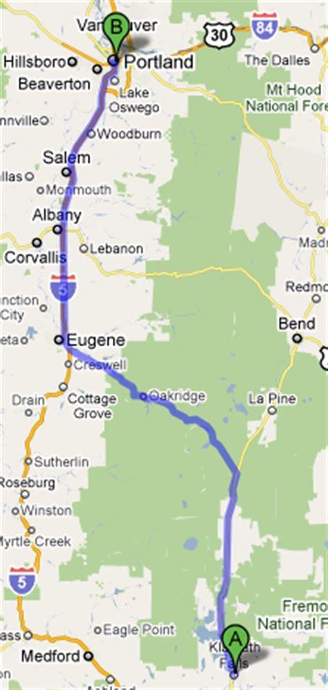 map of highway 97 oregon bill hiking and biking klamath falls to coeur d