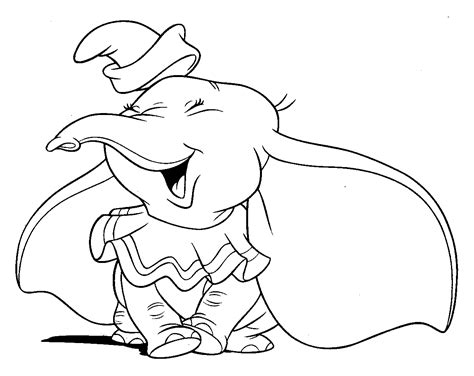 free coloring pages free walt disney animal dumbo
