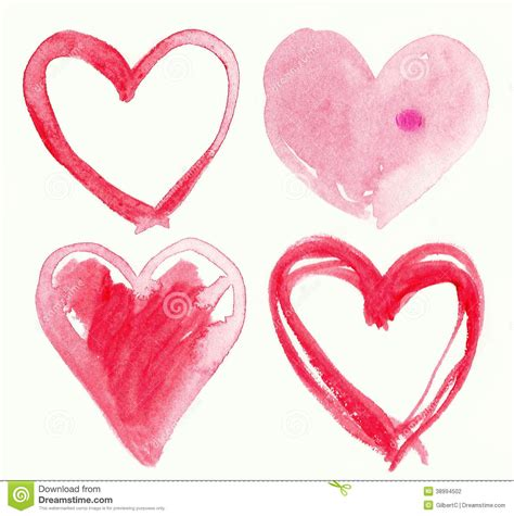 Handcrafted Hearts - hearts stock illustration image 38994502