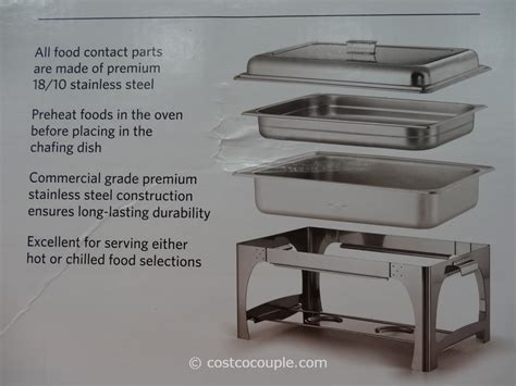 stainless steel table costco tramontina 9qt stainless steel chafing dish