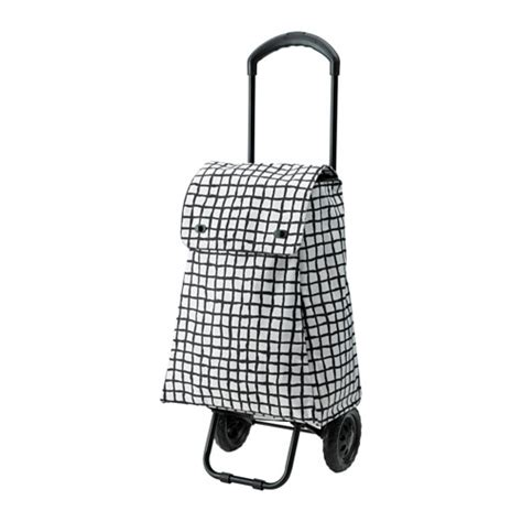 ikea shopping bags knalla shopping bag with wheels black white ikea
