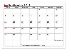 Calendario Septiembre 2017 Chile Calendarios Para Imprimir Septiembre 2017 Chile